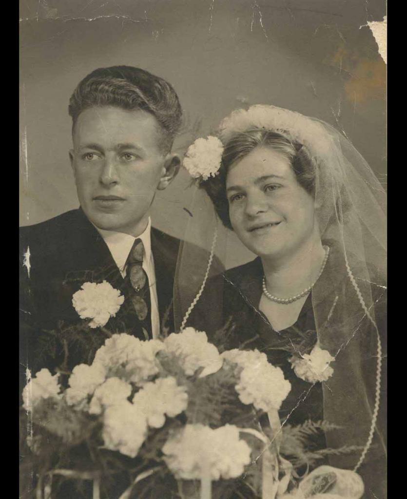 Oude trouwfoto retoucheren